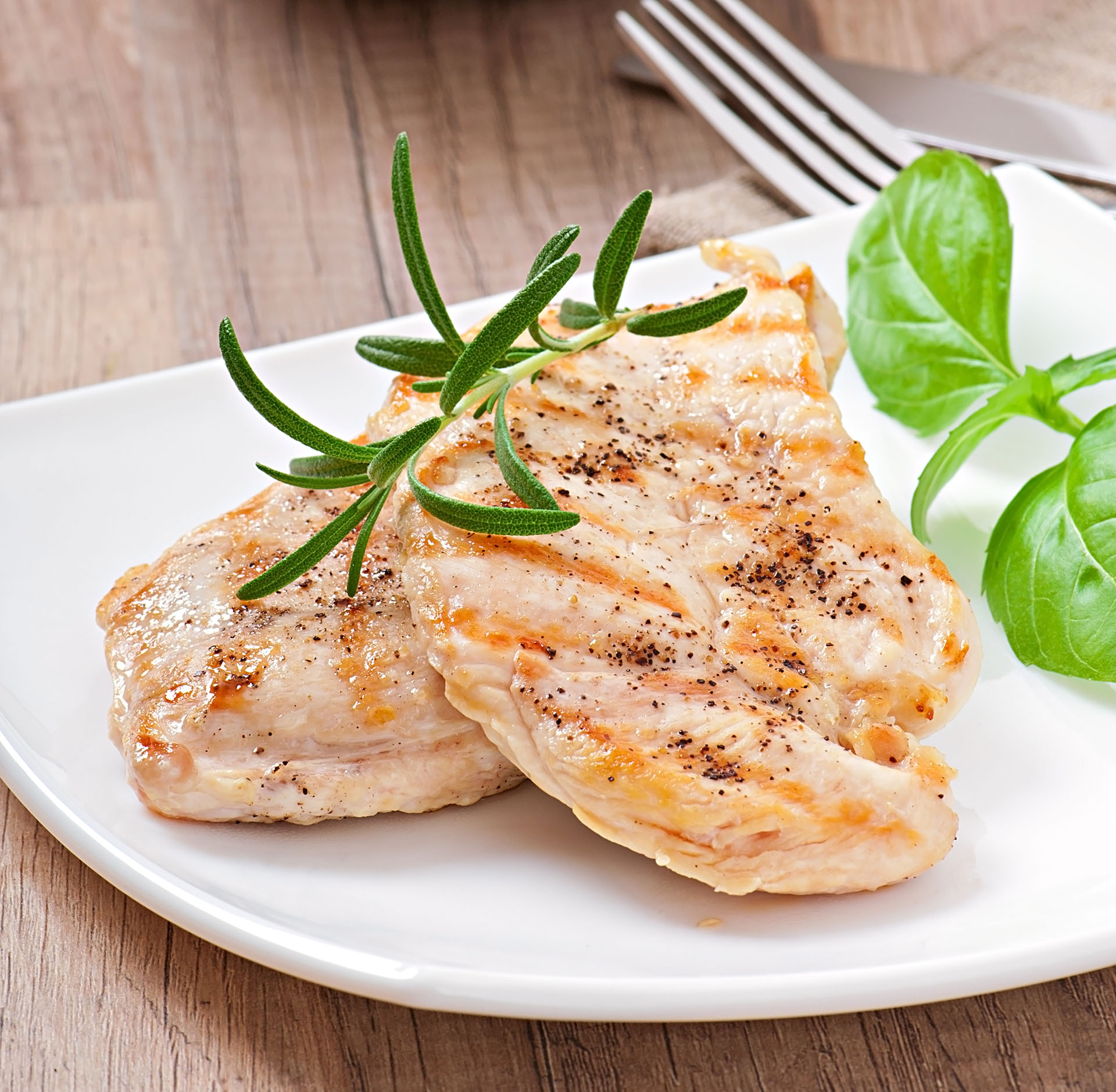 Roasted Chicken Breasts with Lemon Herbs